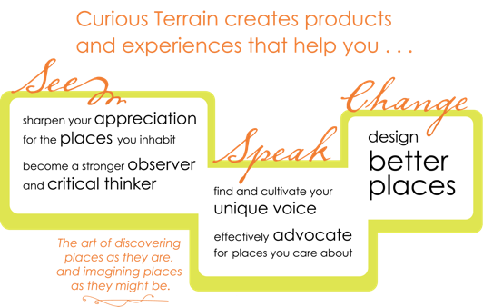 Curious Terrain creates products and experiences that help you see, speak, and change places.